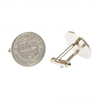 Manchester City Silver Plated Cufflinks CR