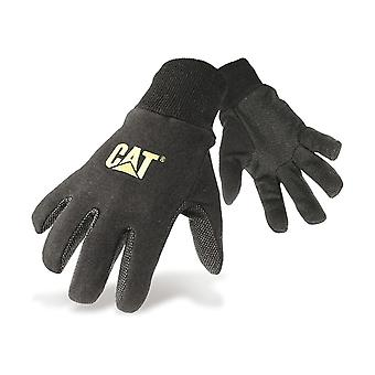 Caterpillar 15400 Mens PVC Micro Dot Palm Gloves Black Male Workwear
