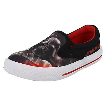 Boys Star Wars Fairview Slip On Canvas Shoe