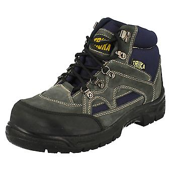 Mens Truka Lace Up Hiking Safety Boots Fox