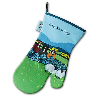 Thomas Joseph Oven Mitt, Nag, Nag, Nag Sheep Design