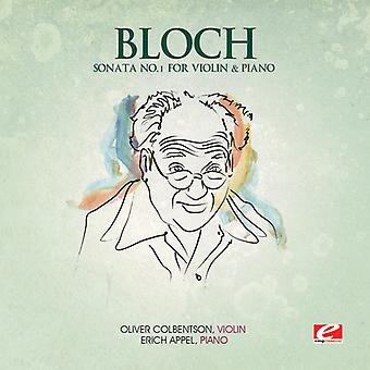 E. Bloch - Bloch: Sonate Nr. 1 für Violine & Klavier [CD] USA import
