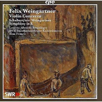 Weingartner/Schubert - Felix Weingartner: Concierto para violín; Schubert: Sinfonía en mi [CD] USA importar