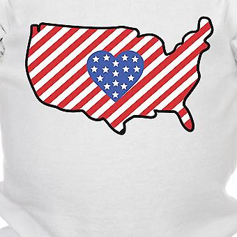 USA Map Cute 4th Of July Decorative Cute Baby Onesie New Mom Gifts