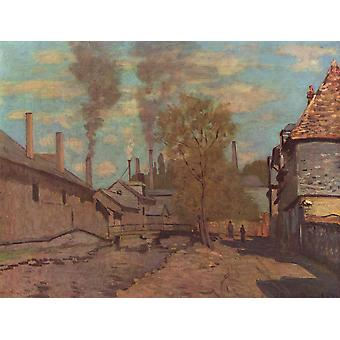 Claude Monet - Houses in the Street Poster Print Giclee