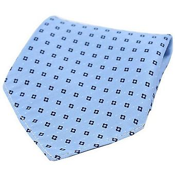 David Van Hagen Neat Pattern Silk Pocket Square - Blue/Navy