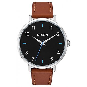 Nixon The Arrow Leather Watch - Brown/Black