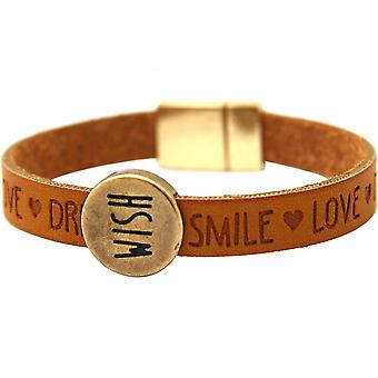 -Bracelet - wish - WISHES - marron - fermeture aimantée