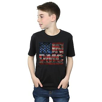 Run DMC Boys US Flag Logo T-Shirt