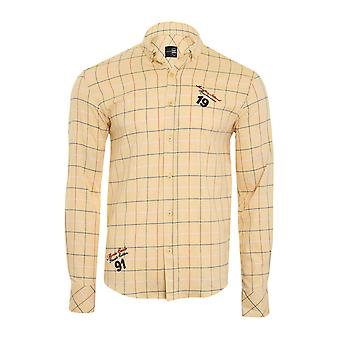 Tazzio fashion shirt men's long sleeve shirt slim fit yellow