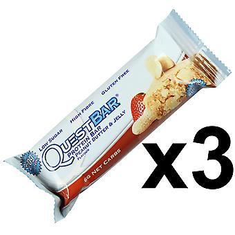 Quest Nutrition Peanut Butter & Jelly Protein Bar Individual 3 x 60g Bars