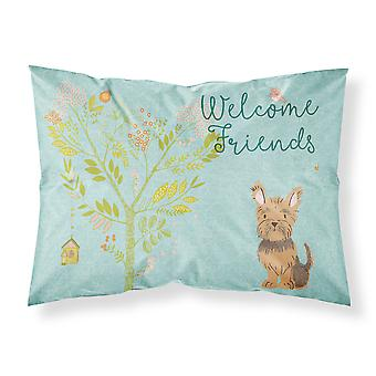 Welcome Friends Yorkie Fabric Standard Pillowcase