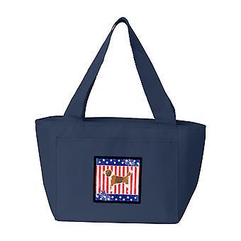 Carolines tesori BB3310NA-8808 USA patriottico Beagle Lunch Bag
