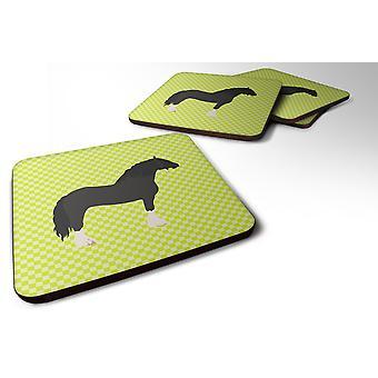 Set of 4 Pomeranian Rogener Goose Green Foam Coasters Set of 4