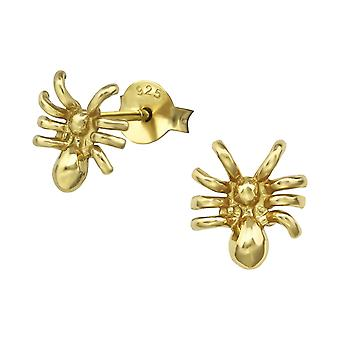 Spider - 925 Sterling Silver Plain Ear Studs