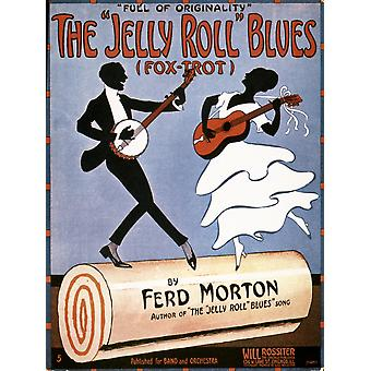 Tampa 1915 da Nsongsheet do música Morton folha de Jelly Roll Blues publicado pela primeira vez trabalho de Ferdinand Jelly Roll Morton Poster Print por Granger Collection