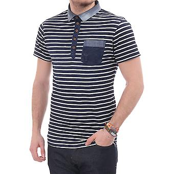 Pearly King Crush Striped Ss Polo
