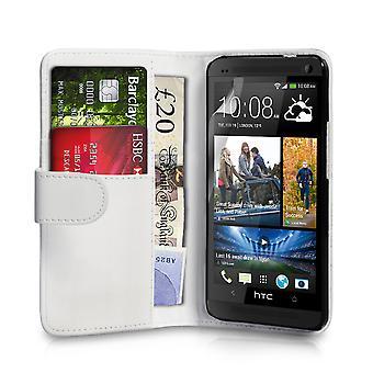 HTC en läder-effekt plånbok väska - vit