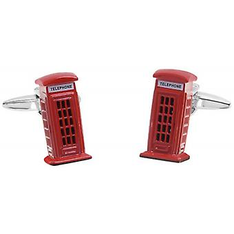 Zennor London Phone Box Cufflinks - Red/White/Black