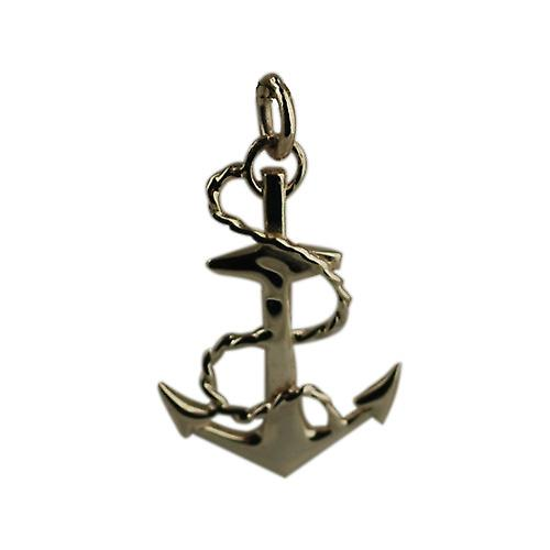 9ct Gold 30x20mm Anchor Pendant