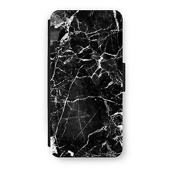 iPhone 5/5 s/SE フリップ ケース - ブラック大理石 2