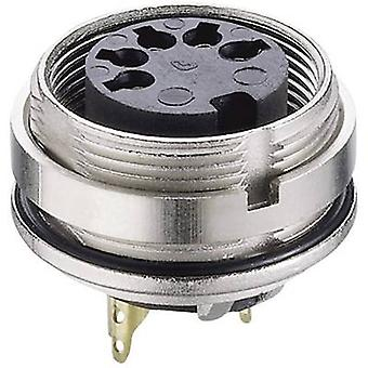 DIN connector Socket, vertical vertical Number of pins: 7 Silver Lumberg 0305 07-1 1 pc(s)