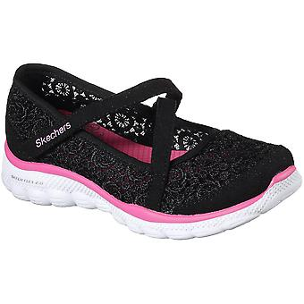 Skechers Girls Skech Flex 2.0 Comfy Crochetes Casual Mary Jane Shoes