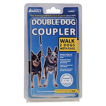 動物ダブル犬カプラー鉛、2 匹の犬歩くカップル、大型の会社