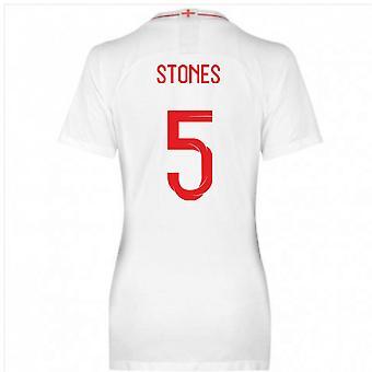 2018-2019 England Home Nike Womens Shirt (Stones 5)