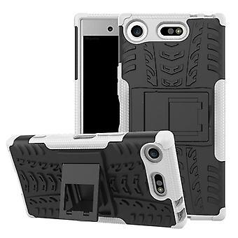 Hybrid sag 2 stykke SWL robot hvid Sony Xperia XZ1 kompakt / mini taske tilfælde dække beskyttelse