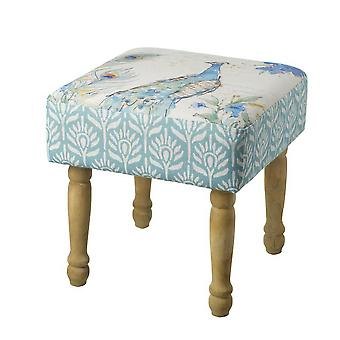 Peacock Pattern Stool