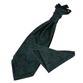 Smaragd gröna Paisley bröllop Cravat & Pocket Square Set