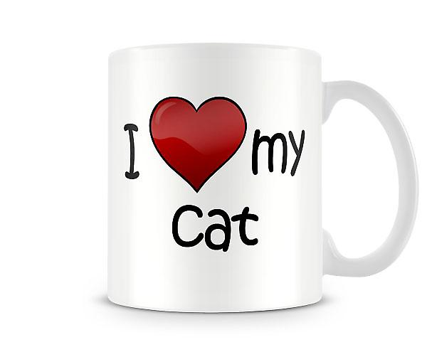 I Love My Cat Printed Mug