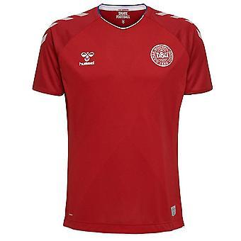 2018-2019 Denmark Home Hummel Football Shirt