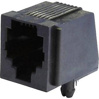 Modulare montierten Socket Socket, horizontale Halterung MEB6/6P schwarz Econ verbinden MEB6/6P 1 PC