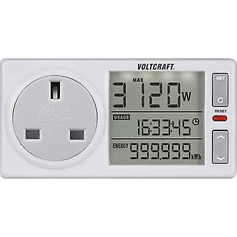 VOLTCRAFT 4500ADVANCED UK Energy consumption meter built-in child safety guard, Selectable energy tariffs, built-in battery buffering, TMRS, Energy cost