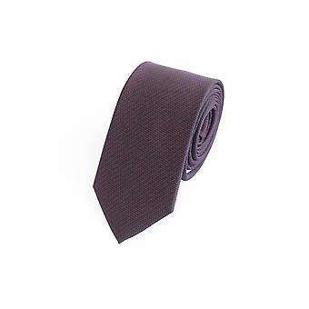 Tie stropdas stropdas tie 6cm zwart bruin rood geruit Fabio Farini