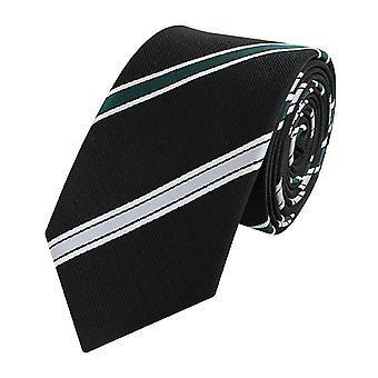 Tie tie tie tie narrow 6cm black/green striped Fabio Farini