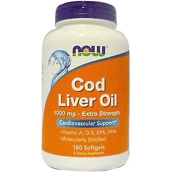 Now Foods Cod Liver Oil 1000 mg Extra Strength 180 Softgels