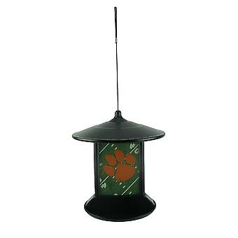 Clemson Tigers Logo Solar Powered Hanging Birdfeeder