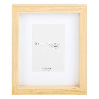 Juliana Impressions Natural Finish Photo Frame 4x6 - Light Brown