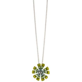 Ti2 Titanium Double Ten Petal Flower Pendant - Yellow