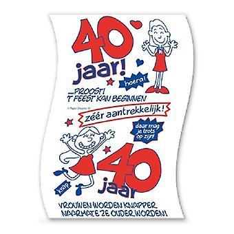 Toiletpapier 40jaar vrouw nr10
