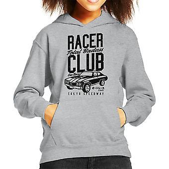 Felpa con cappuccio Racer Club totale Badass auto gara bimbo