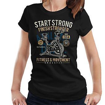 Empezar t-shirt fuerte gimnasio Crossfit Womens