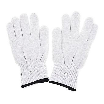 1 pair Magic Pulse Massage gloves Silver Fiber Conductive Electrical Massage therapy Electrode gloves use for dozens of Machine