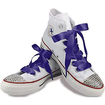Purple Satin Laces