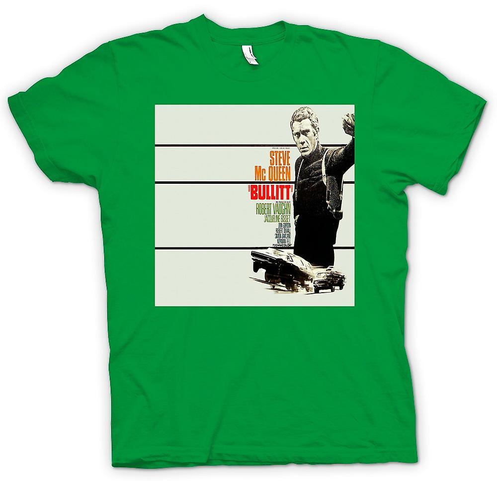 Herr T-shirt - Steve Mcqueen - Bullit - affisch