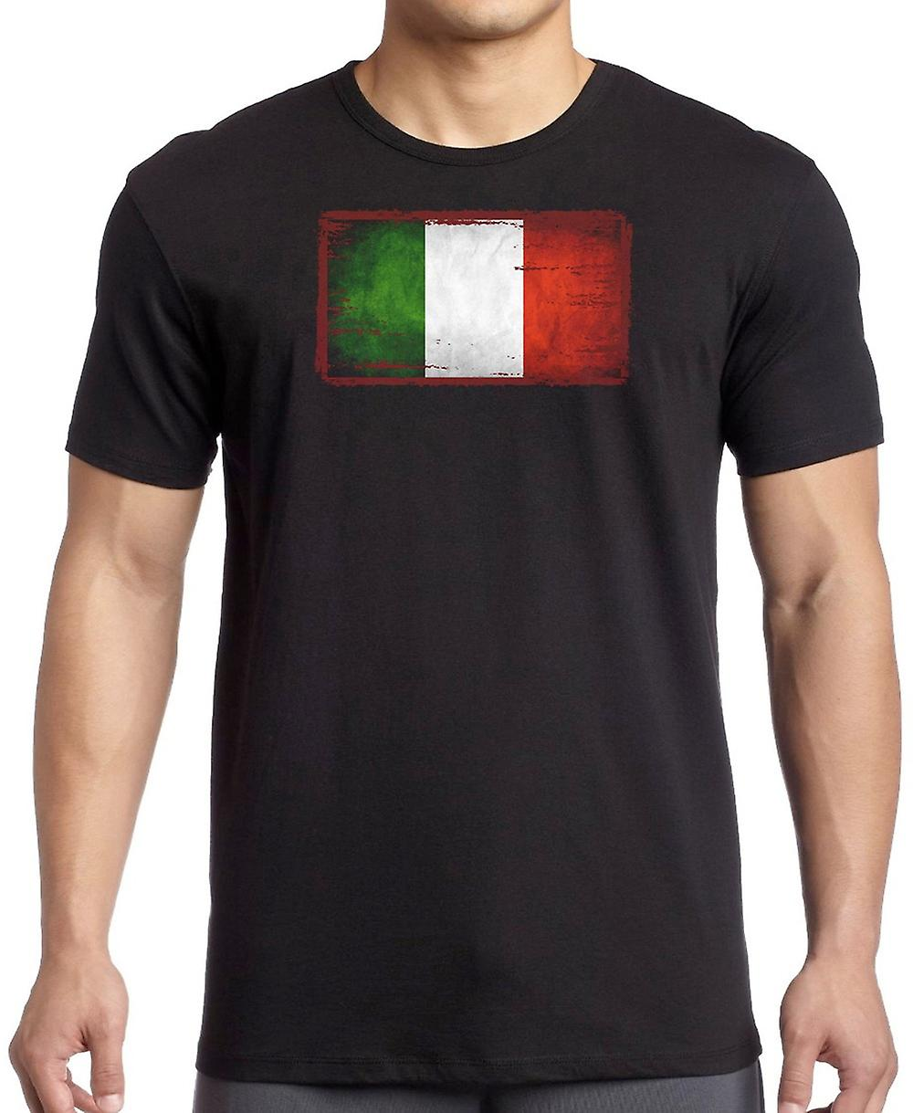 Italia Italiano Grunge Flag Kids T Shirt