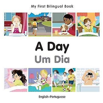 Min första tvåspråkiga bok - en dag - portugisiska-engelska